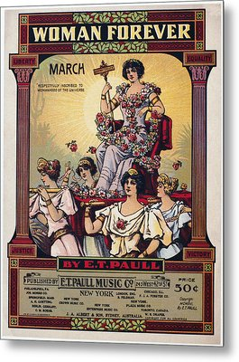 Sheet Music Cover, 1916 Metal Print by Granger