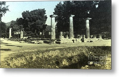 Temple Of Zeus, Olympia, Greece Metal Print by Photo Researchers