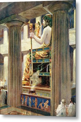 7 Wonders Of The World, Zeus At Olympia Metal Print by Photo Researchers