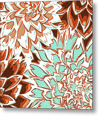 Abstract Flowers 12 Metal Print by Sumit Mehndiratta