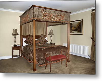 An Antique Style Four Poster Bed Metal Print by Will Burwell
