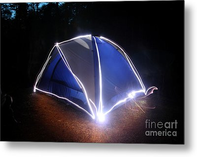 Camping Metal Print by Ted Kinsman
