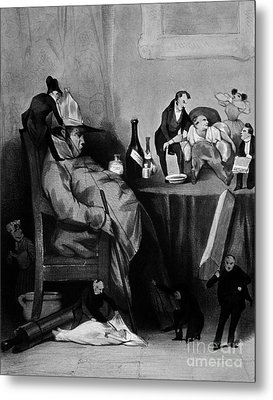 Caricature Of Hypochondriac, 1833 Metal Print by Science Source