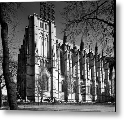 Cathedral Of Saint John The Divine, New Metal Print by Everett