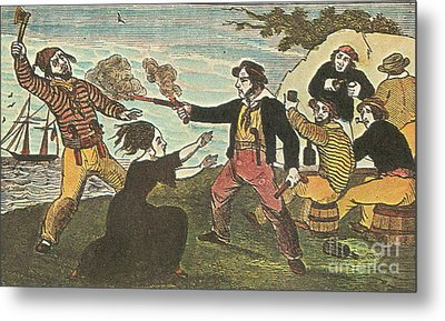 Charles Gibbs, American Pirate Metal Print by Photo Researchers