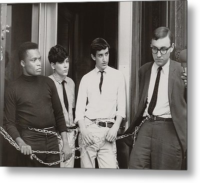 Core And Sncc Protesters. Four Metal Print by Everett