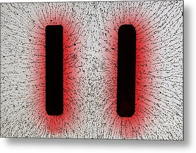 Electrostatic Field Lines Like Charges Metal Print by Ted Kinsman