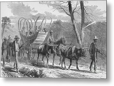 Federal Camp Contraband, 19th Century Metal Print by Photo Researchers