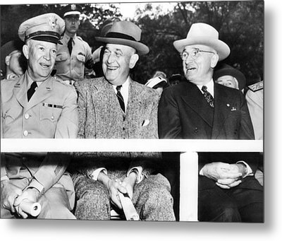 Harry Truman Observing The First Armed Metal Print by Everett