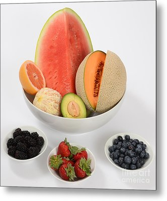 High Carbohydrate Fruit Metal Print by Photo Researchers, Inc.