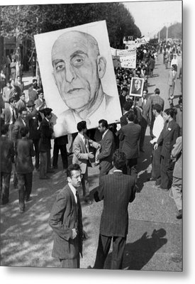 Iranians, Demonstrating In Favor Metal Print by Everett