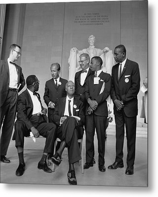 Leaders Of The 1963 March On Washington Metal Print by Everett