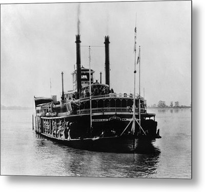 Mississippi Steamboat, 1926 Metal Print by Granger