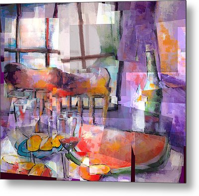 Mom's Table Metal Print by J Christian Sajous