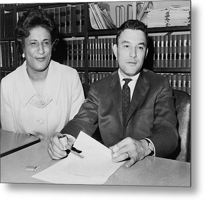 Naacp Lawyers Jack Greenberg B.1924 Metal Print by Everett