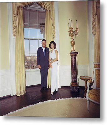 President And Jacqueline Kennedy Metal Print by Everett