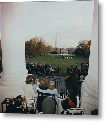 President Kennedy And His Family Watch Metal Print by Everett