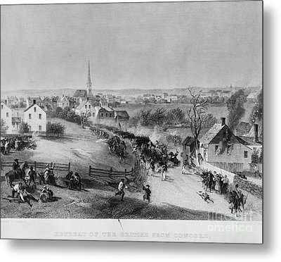 Retreat Of British From Concord Metal Print by Photo Researchers