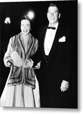 Ronald And Nancy Reagan Attended Metal Print by Everett