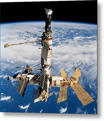 Russian Space Station Mir. Photo Metal Print by Everett