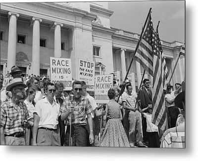 Segregationist Rally In Little Rock Metal Print by Everett