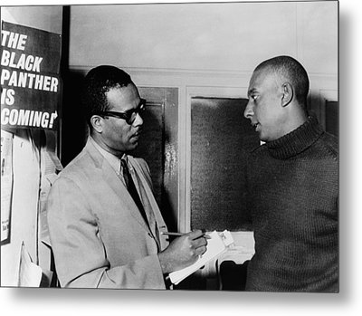 Stanley S. Scott Interviewing Stokely Metal Print by Everett