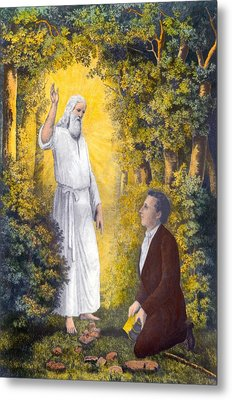 The Angel Moroni Delivering The Plates Metal Print by Everett