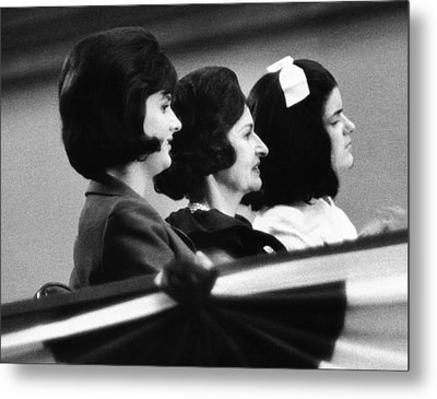 The Lbj Ladies At The 1964 National Metal Print by Everett