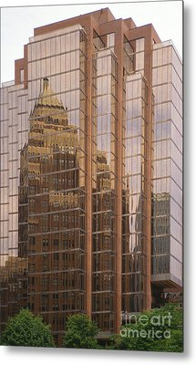 The Old And The New Metal Print by Sandra Bronstein