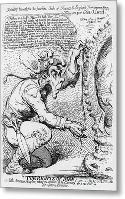 Thomas Paine Caricature Metal Print by Photo Researchers