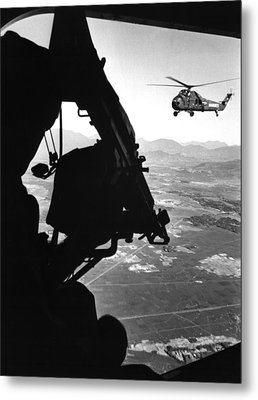 Vietnam War. Us Army Helicopter Metal Print by Everett