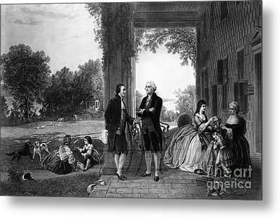 Washington And Lafayette, Mount Vernon Metal Print by Library of Congress
