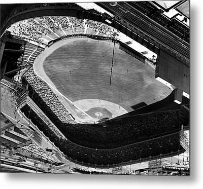 Yankee Stadium On Labor Day. 20,000 Metal Print by Everett