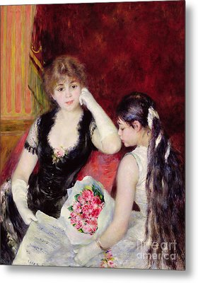 At The Concert Metal Print by Pierre Auguste Renoir