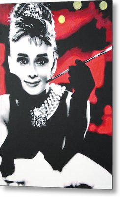 - Breakfast At Tiffannys -  Metal Print by Luis Ludzska