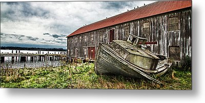 Salmon Cannery Metal Print by DMSprouse Art