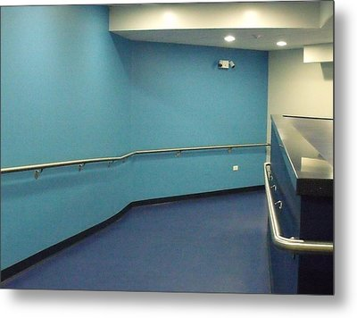 Blue Corridor Metal Print by Anna Villarreal Garbis