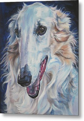 Borzoi Metal Print by Lee Ann Shepard