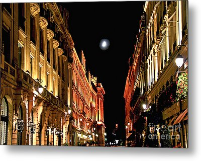 Bright Moon In Paris Metal Print by Elena Elisseeva