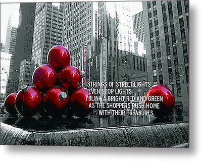 Busy Sidewalks Metal Print by JAMART Photography