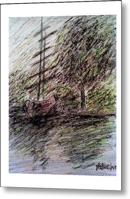 By The Lake Metal Print by Aida Behani