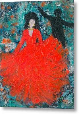 Dancing Joyfully With Or Without Ned Metal Print by Annette McElhiney