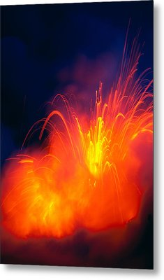 Exploding Lava Metal Print by Greg Vaughn - Printscapes