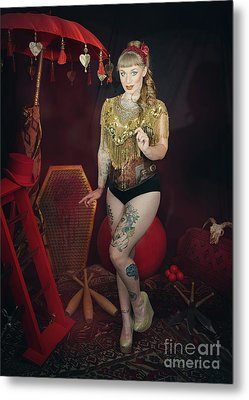 Female Circus Performer Metal Print by Amanda Elwell