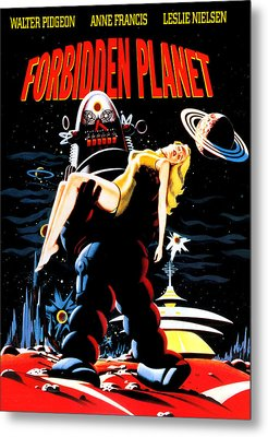 Forbidden Planet, Robby The Robot Metal Print by Everett
