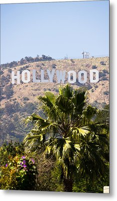 Hollywood Sign Photo Metal Print by Paul Velgos