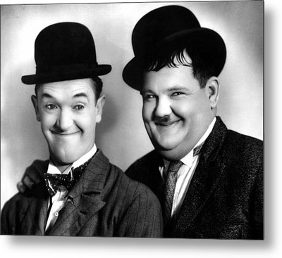 Laurel And Hardy Metal Print by Everett