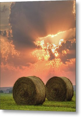 Morning In The Heartland Metal Print by Ron  McGinnis