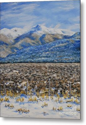 North Of Taos Metal Print by Stanton Allaben