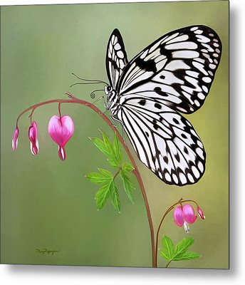 Paper Kite Butterfly Metal Print by Thanh Thuy Nguyen